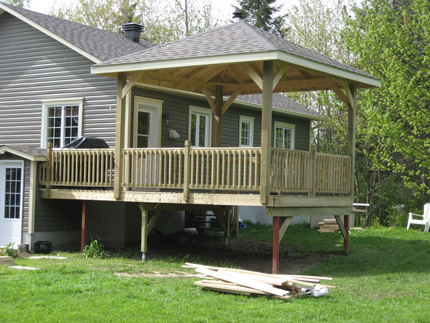 Nos r alisations construction desjardins constructions for Plan de patio exterieur en bois